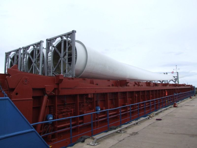 Photo: Wind Turbines for Achairn, Caithness