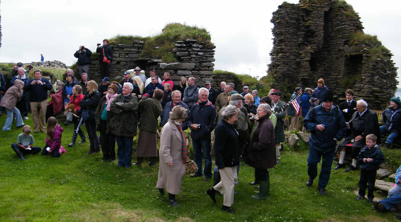Photo: Clan Sinclair Gathering 2010 At Girnigoe Castle Reopening Launch