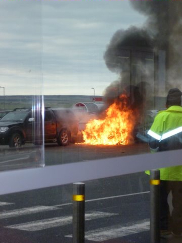 Photo: Car Exploded Into Flames At Tesco Wick