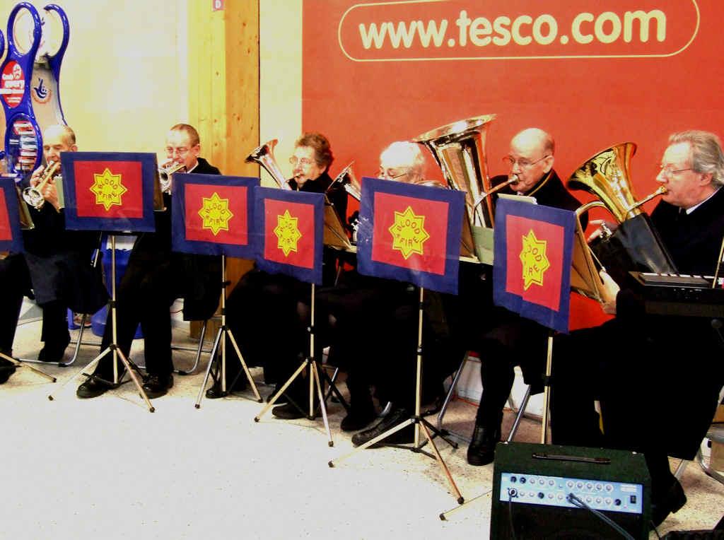 Photo: Salvation Army Band Play Christmas Carols At Tesco Wick