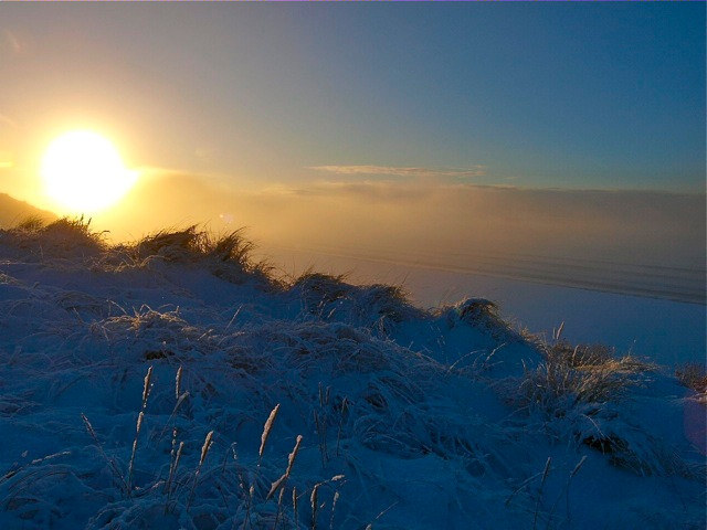 Photo: Sunset Over Snow At Dunnet