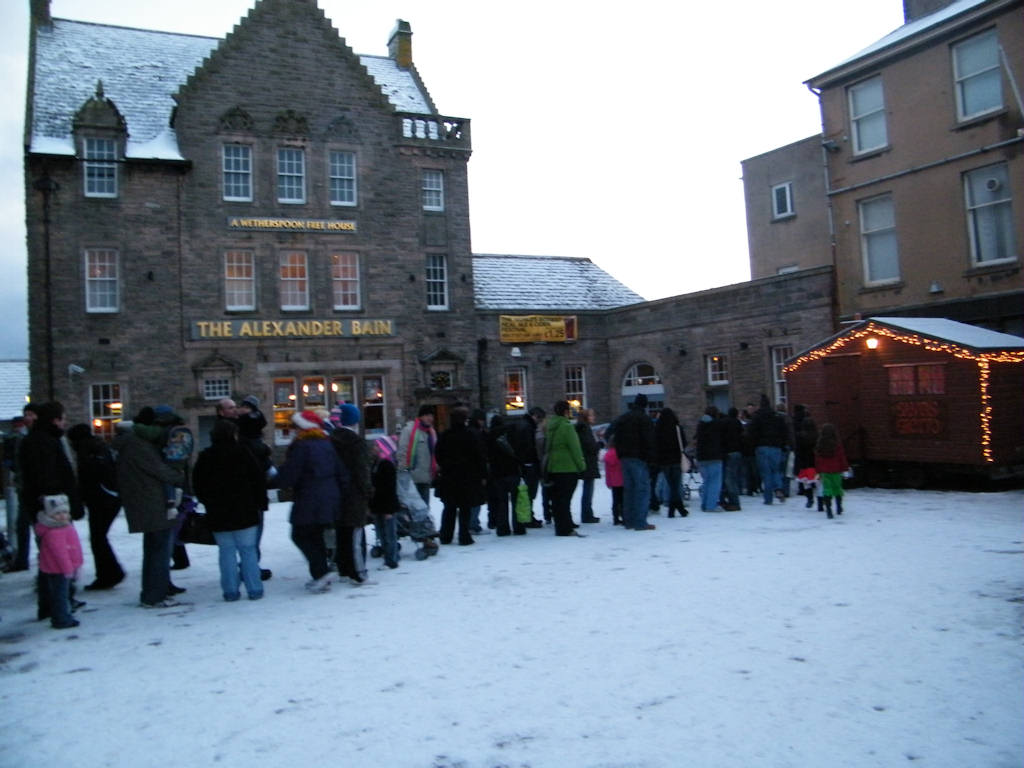 Photo: Children Queue To See Santa At Market Square Wick