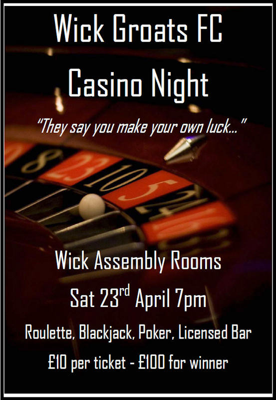 Photo: Wick Groats FC Casino Night