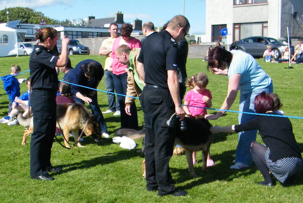 Photo: Dounreay Police Dogs Demonstration At Keiss Gala