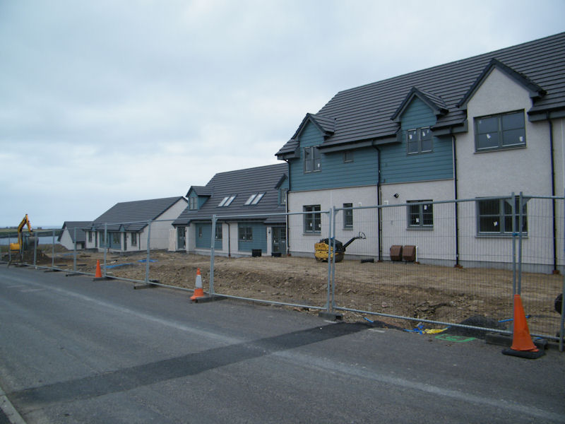 Photo: New Houses Near Battery Road, Wick Nearing Completion