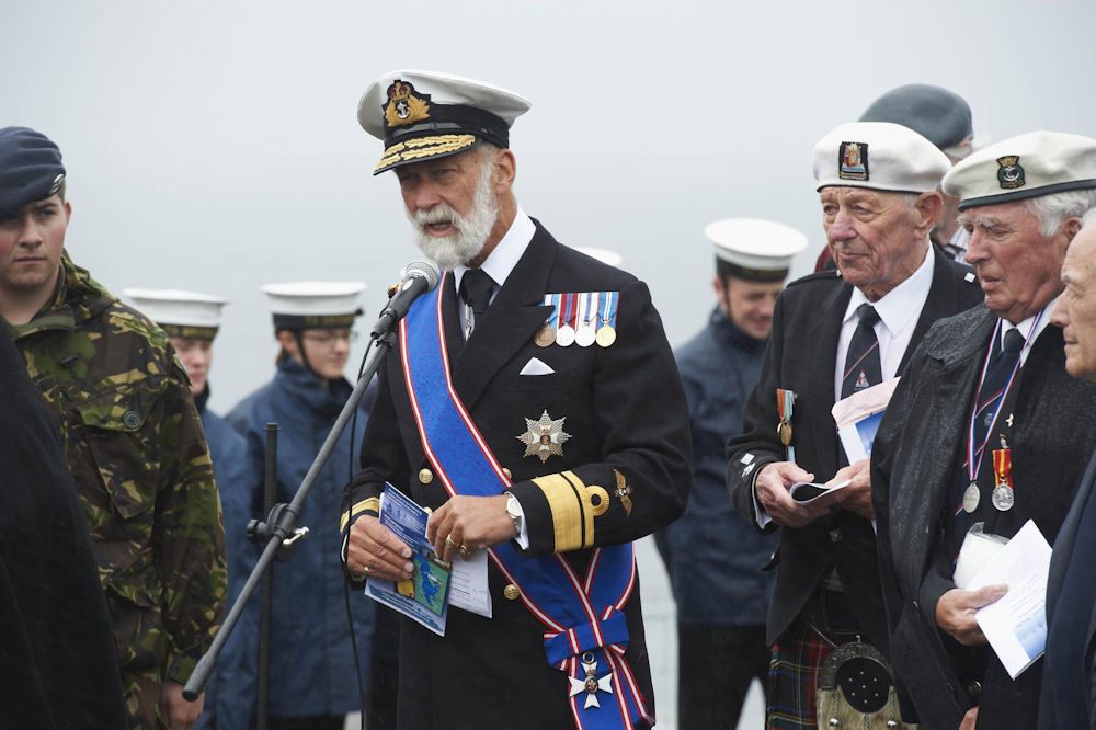 Photo: HRH Prince Michael of Kent addresses veterans and guests during the service
