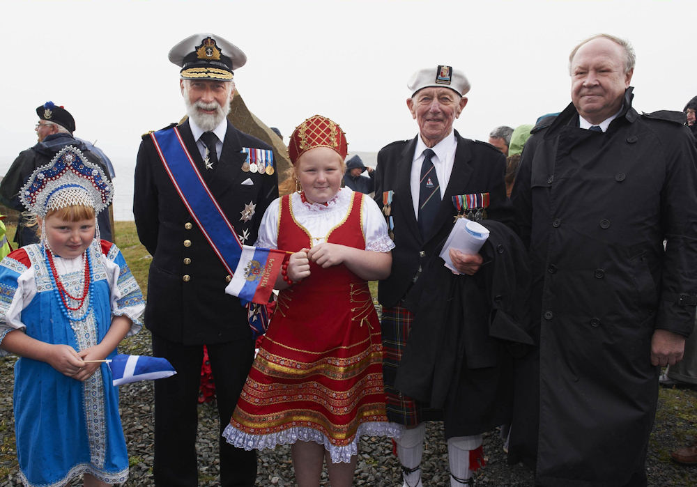 Photo: Rusian Convoy Memorial Service at Cove, Wester Ross