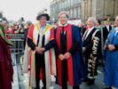 Prof Stuart Gibb (right at the procession to mark the new University of the Highlands and Islands