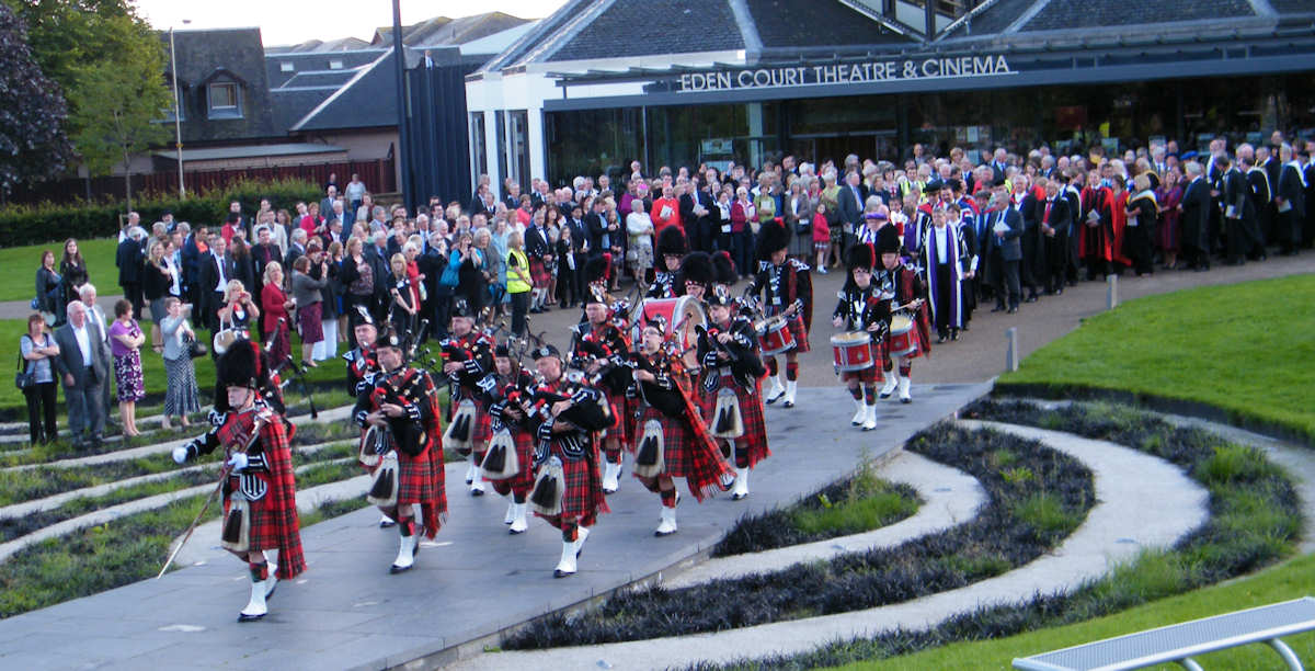 Photo: Academic Procession For New Univeristy Of the Highlands and Islands