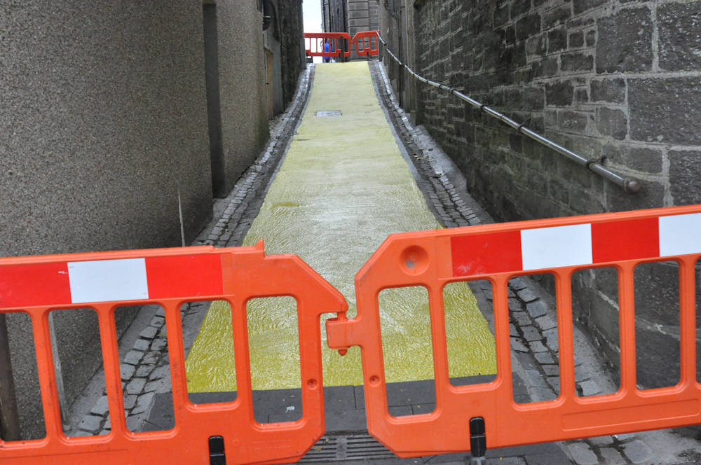 Photo: Wick Lanes Turned Bright Yellow