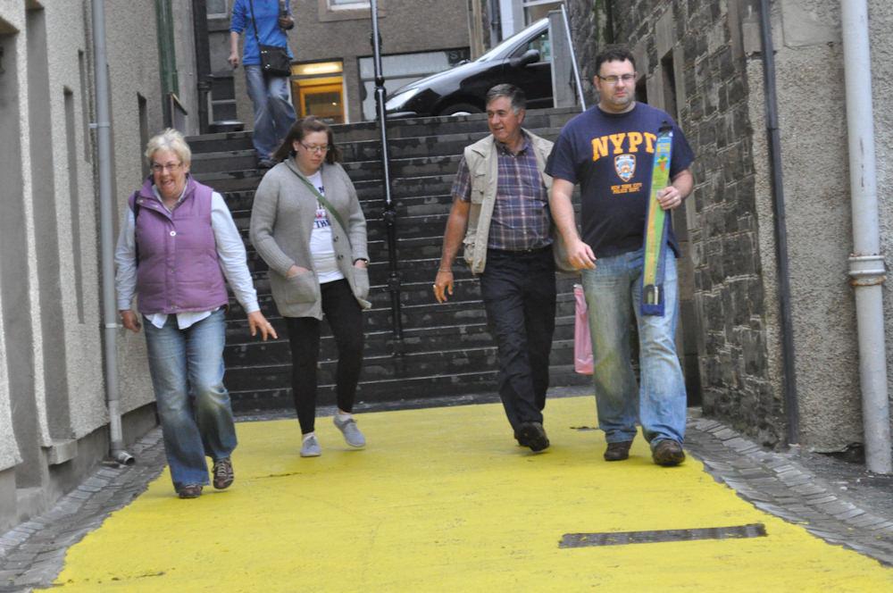 Photo: Wick Lanes Turned Bright Yellow
