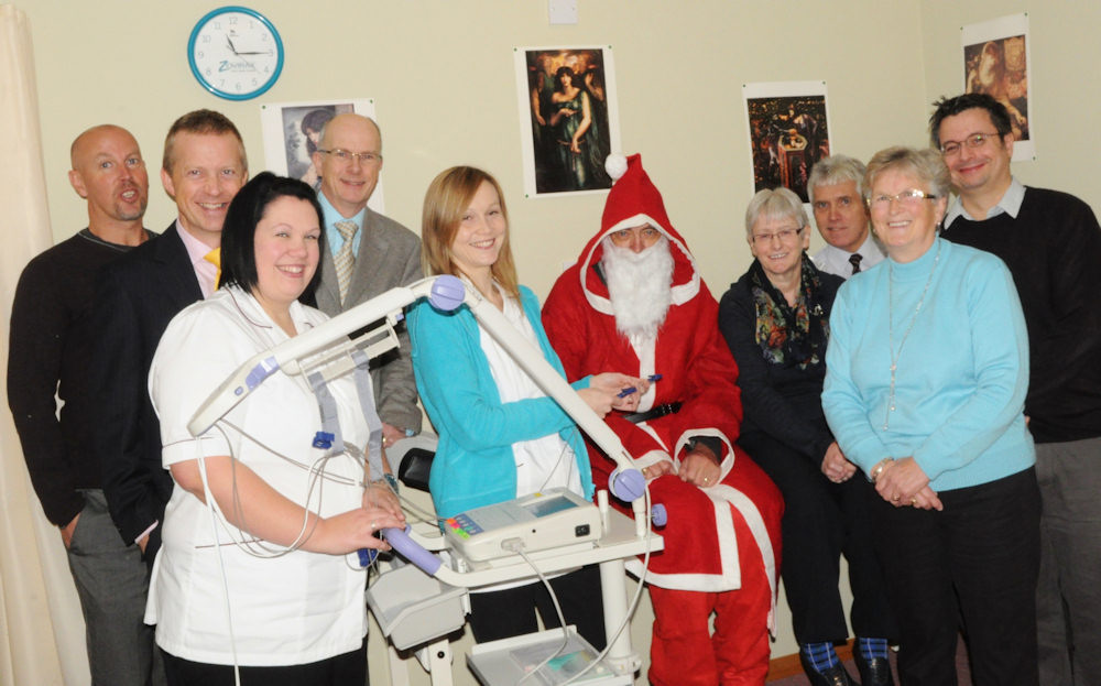 Photo: Santa At Chest Heart & Stroke Support Group
