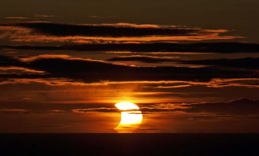 Photo: Caithness Astronomy Group Was Out For Partial Eclipse Of The Sun