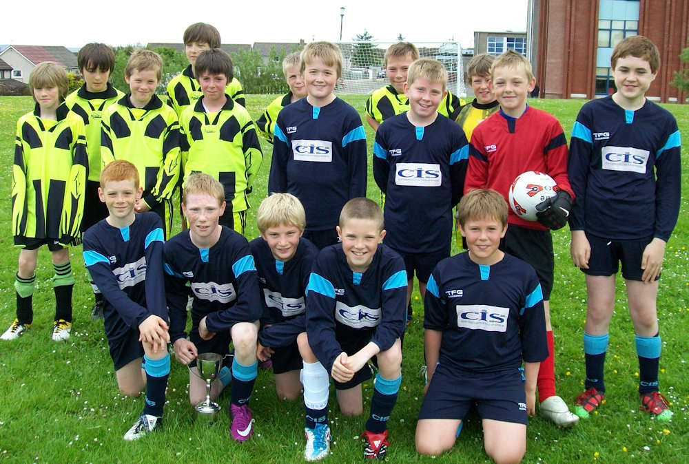 Photo: Pennyland Primary Won Caithness Schools East West Football Competition 2011