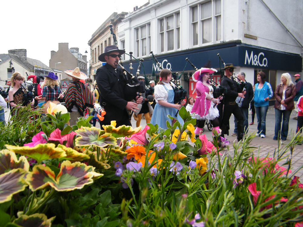 Photo: Wick Pipe Band Week 2011 Fancy Dress Parade
