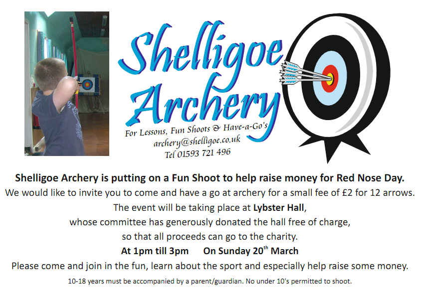 Photo: Archery For Red Nose Day
