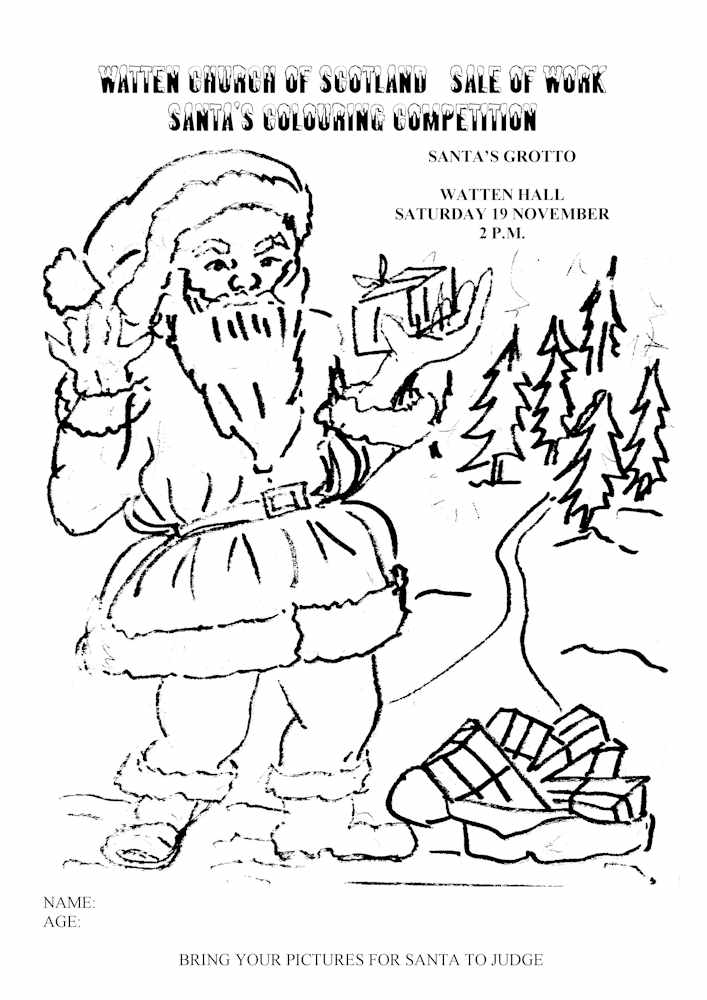 Photo: Santa Coming To Watten - Colouring Competition