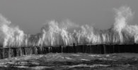 Storm at Wick Harbour