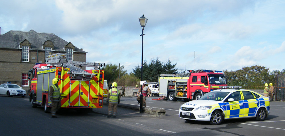 Photo: Emergency Services Attending The Explosives Find