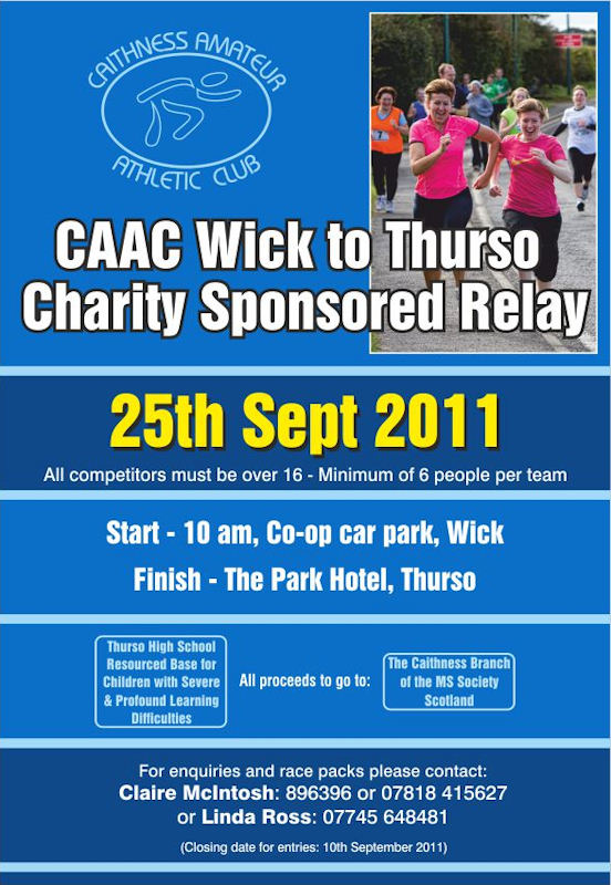 Photo: CAAC Wick To Thurso Sponsored Relay