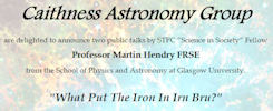 Caithness Astronomy Group Talks