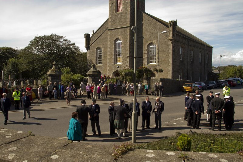 Photo: People Gathered In Wick To Remember the Crew Of the Isleford