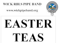 Easter Teas At Wick Pipe Band Hall