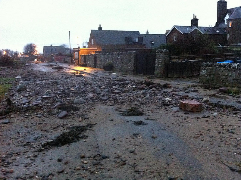 Photo: Storm Damage At Golspie