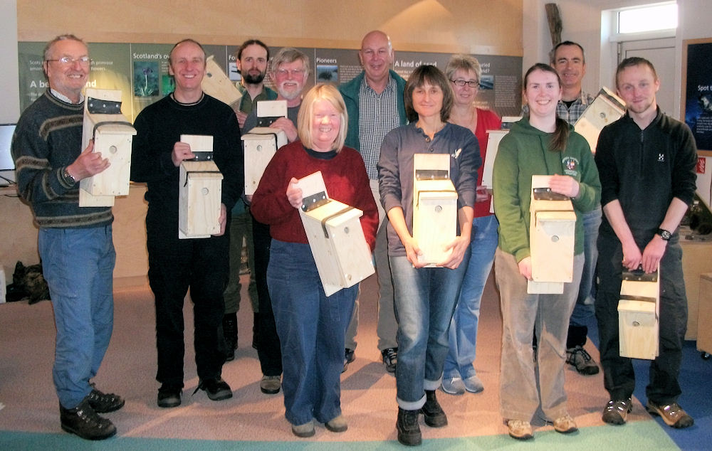 Photo: Bird Boxes Made By Caithness Volunteers