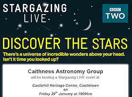 Caithness Astronomy Group - Star Gazing Live Event