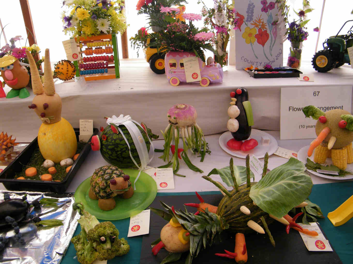 Photo: Flower Tent At Caithness County Show 2012