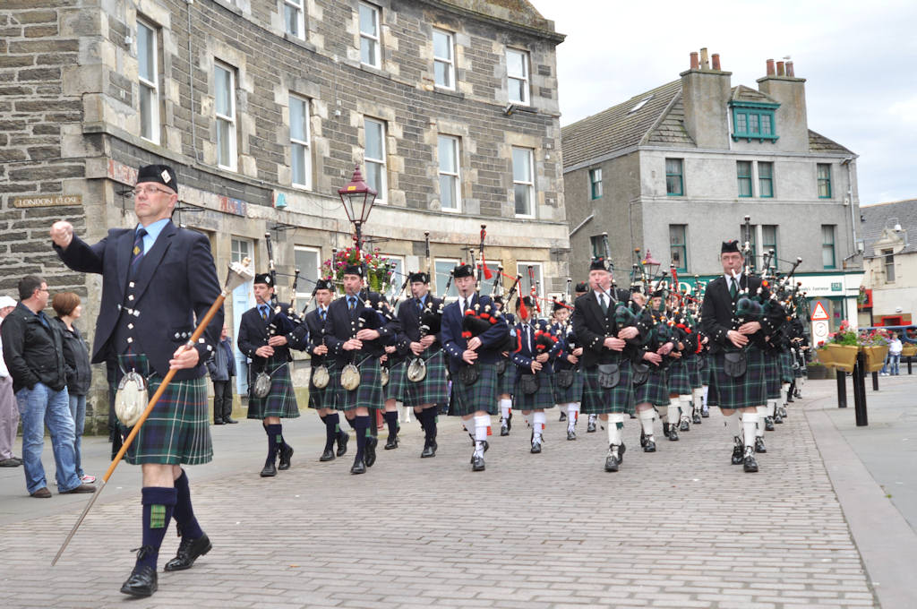 Photo: Massed Pipe Bands At Wick