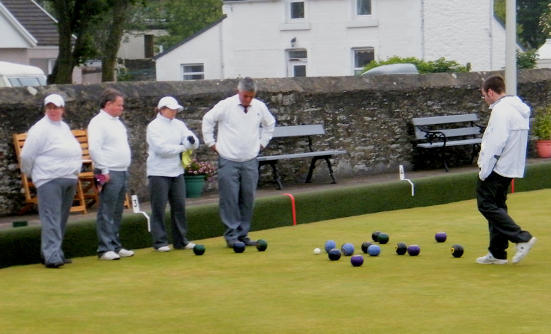 Photo: From The Final At Caithness Triples 2012