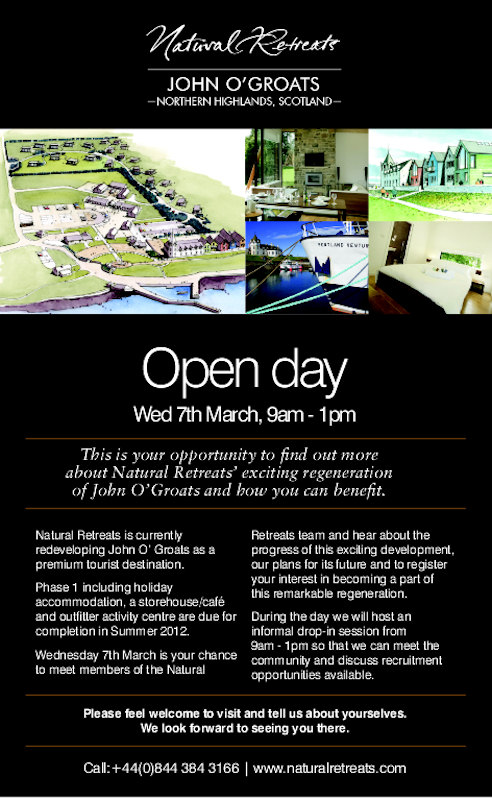 Photo: John O'Groats Open Day For The Public 9.00am - 1.00pm