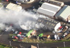 Fire at Ormlie Industrial Estate From The Air
