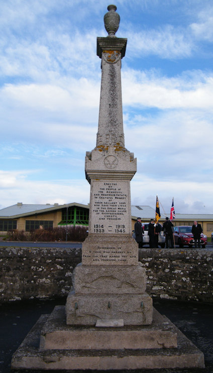 Photo: Remembrance At Ackergill and Hempriggs Memorial 11 November 2012