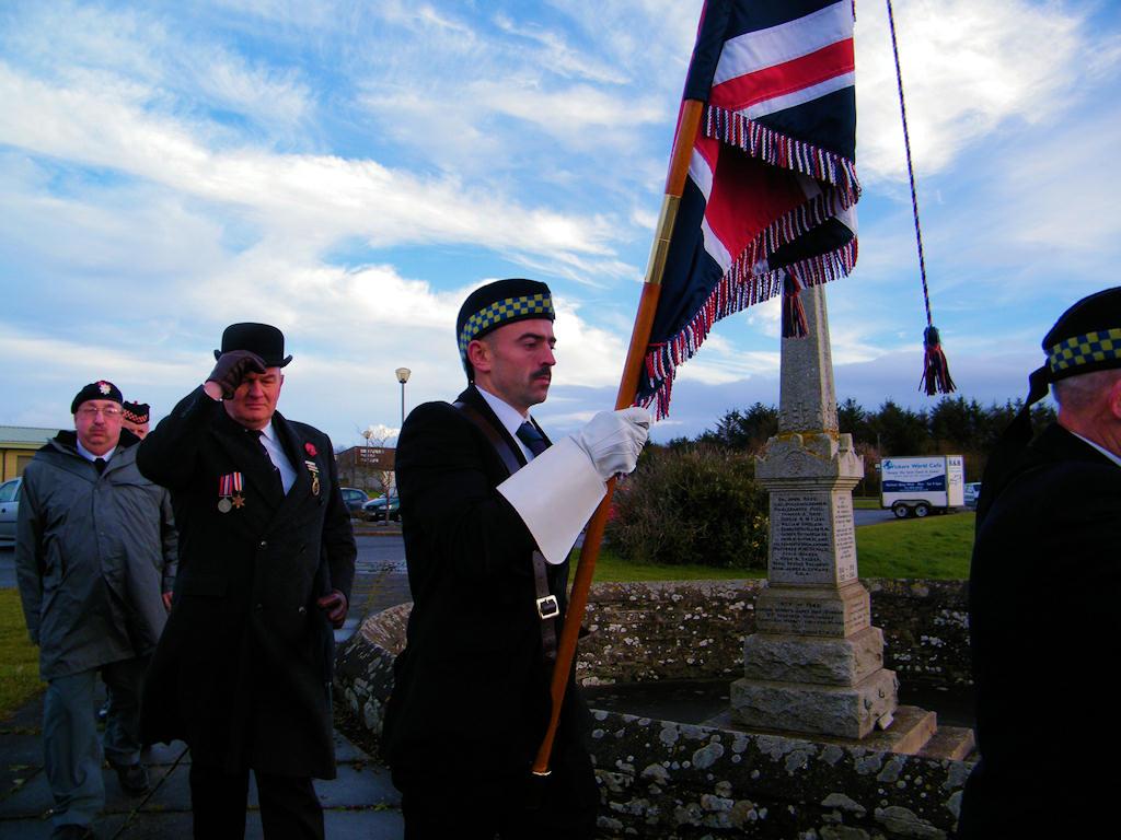 Photo: Remembrance At Ackergill and Hempriggs Memorial 11 November 2012