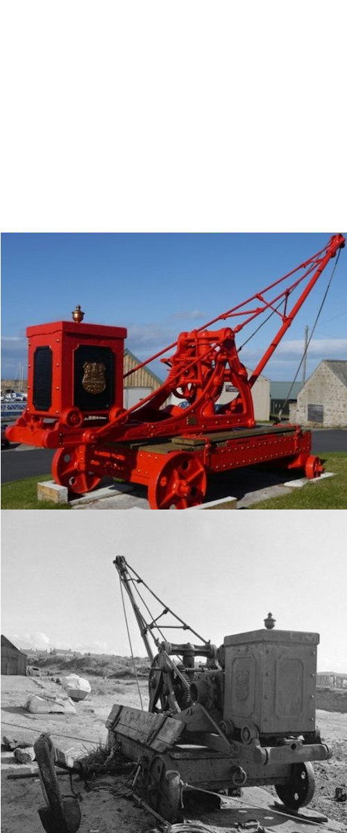 Photo: Restored Crane Was at Wick Harbour Until 1925