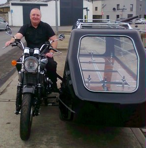 Photo: Motor Cycle Funerals Firm Visits Wick
