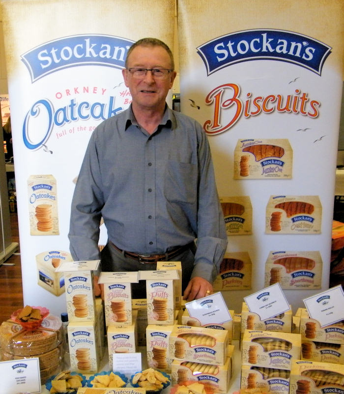 Photo: Sutherland Brothers Trade Show 2013 - Eddie Wright Stockans Oatcakes
