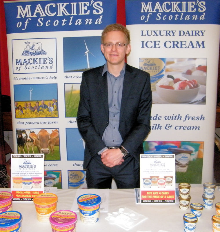 Photo: Sutherland Brothers Trade Show 2013 - Stuart Common Mackie's Ice Cream