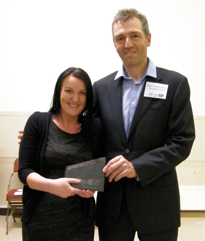 Photo: Sutherland Brothers Prize Winner - Confectionary Jillian Blayney of Mondele International