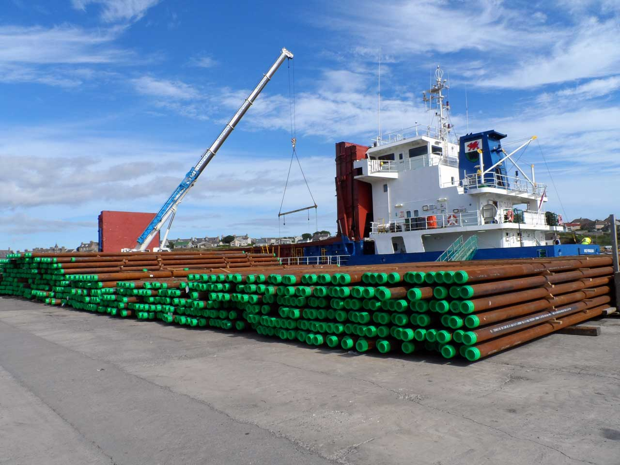 Photo: Pipes Bound For Wester Delivered By Celtic Crusader