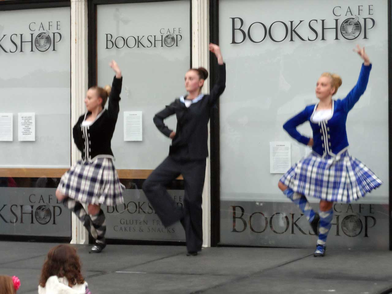 Photo: Wick Pipe Band and Highland Dancers In Market Square, Wick