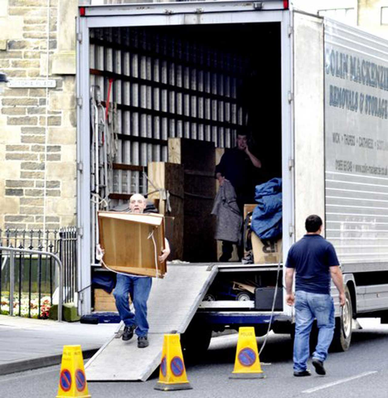 Photo: Wick Town Hall Furniture Goes Back In