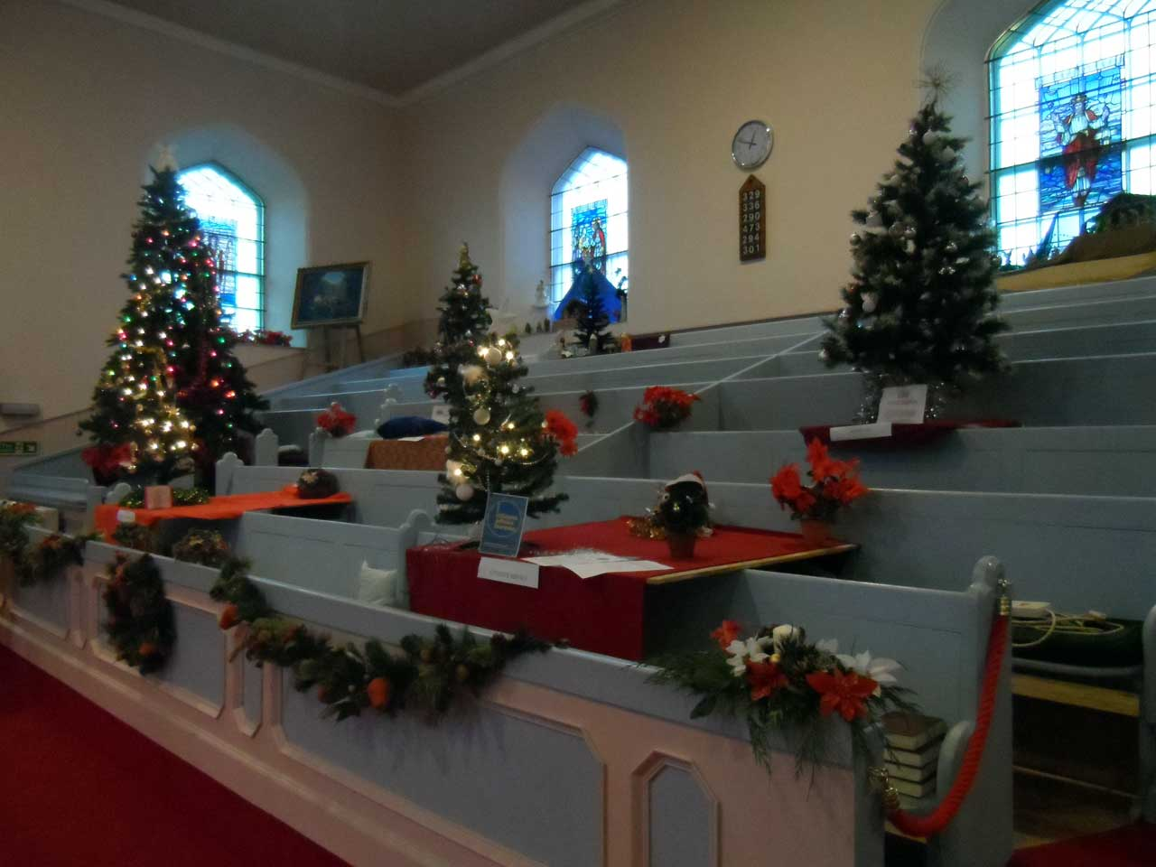 Photo: Christmas Tree Festival At Wick St Fergus Church