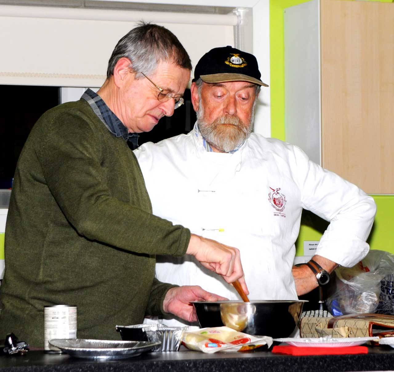 Photo: Cooking up a storm at heart group's event