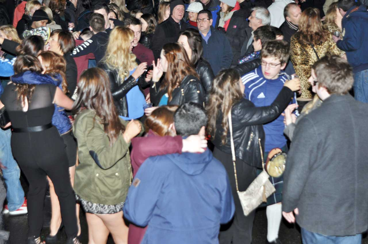 Photo: Wick Hogmanay Street Party To Welcome 2014