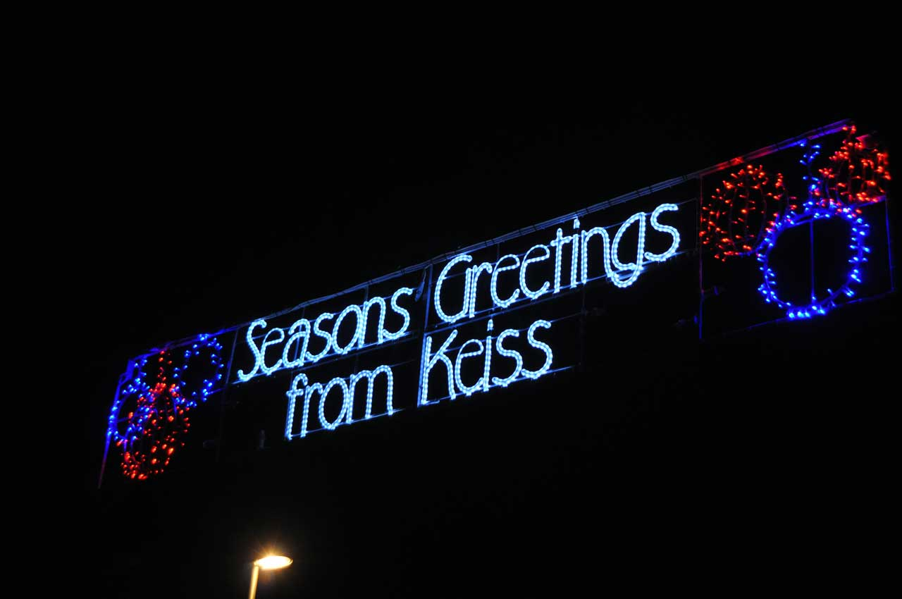 Photo: Keiss Christmas Lights Brighten The Rural Scene