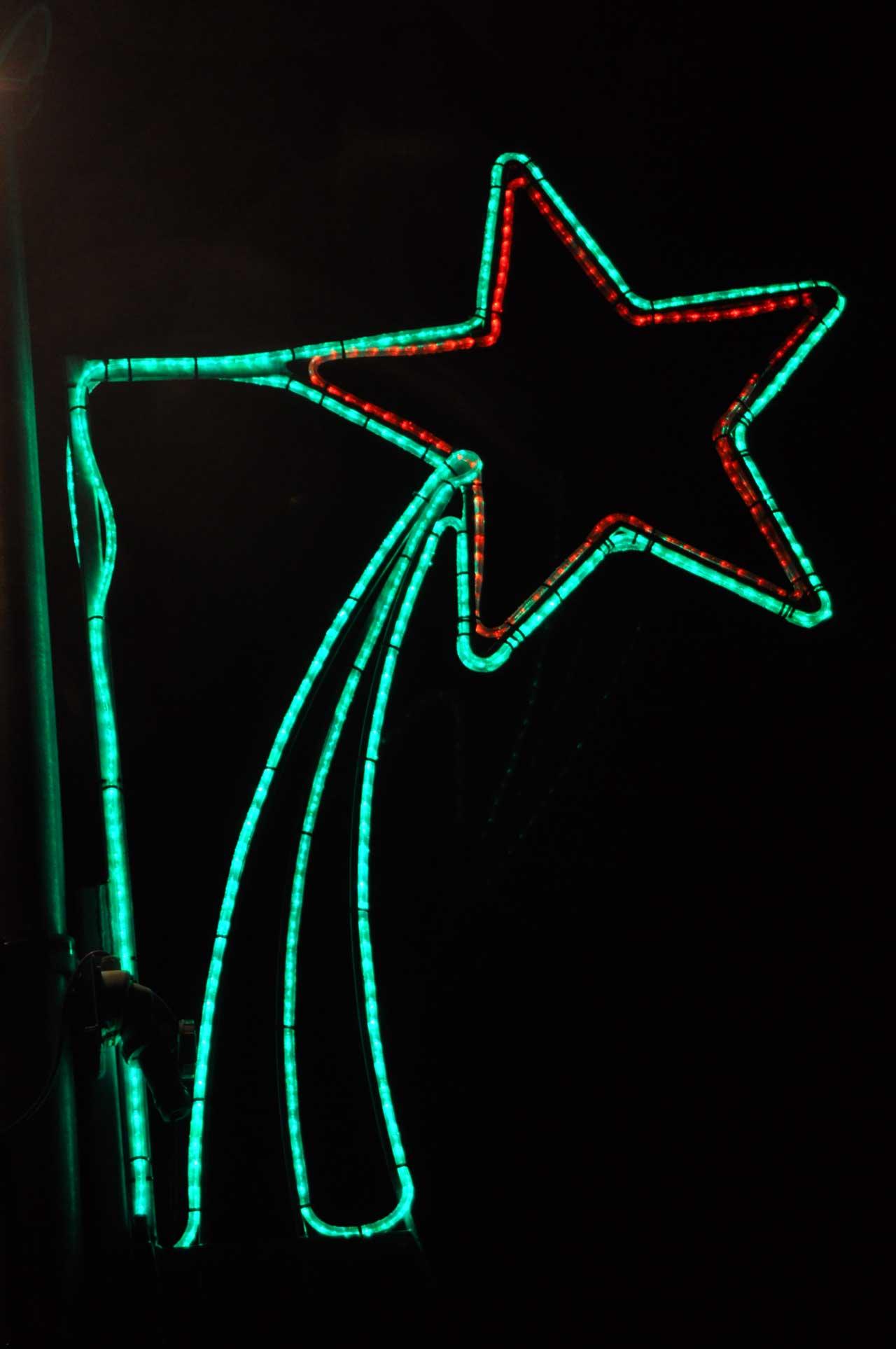 Photo: Keiss Christmas Lights Brighten The Rural Scene